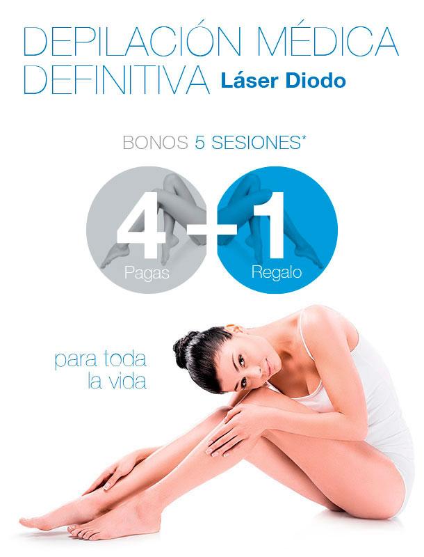 oferta depilación láser 4+1